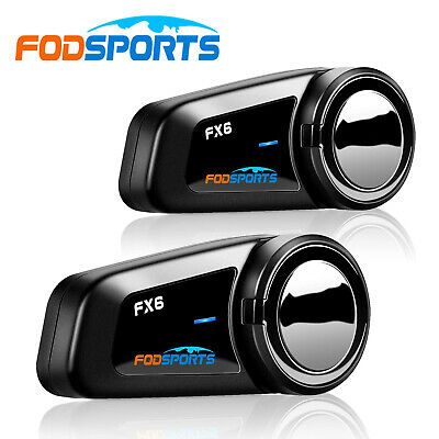 2X FX6 Bluetooth Interphone Motorcycle Helmet Intercom FM Motorbike Headsets 1KM • 91.99£