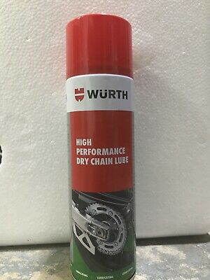 Dry Chain Lube Wurth 500ml Spray High Performance Dry Chain Lube Wax Lube • 12.99£