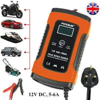 Intelligent 12V Motorcycle Motorbike Car Battery Charger Automatic Smart Trickle • 12.28£