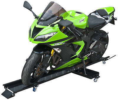 Motorcycle Dolly Motorcycle Stand Steel 450 Kg Side Stand Included Parking Mover • 79.99£