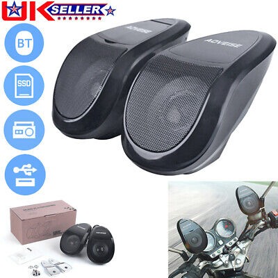 For AOVEISE MT493 Motorcycle Bluetooth Speaker MP3 Audio System FM Radio U Disk • 23.99£