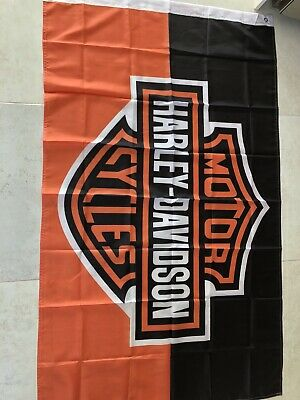 Mancave Flag Harley 5ftx3ft In Size There Big • 14£