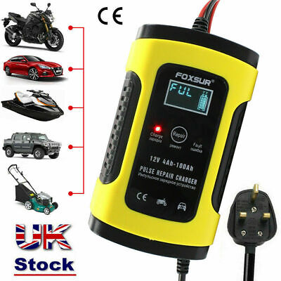 Smart Car Battery Charger 12V 5Amp LCD Automatic Motorcycle Pulse Repair AGM/GEL • 12.28£