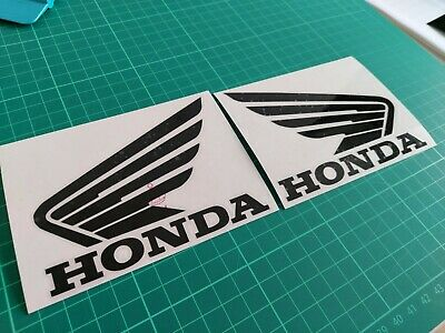 HONDA WINGS 2x 11x8cm Motorcycle Bike Tank Fairing Decals / Sticker • 2.99£