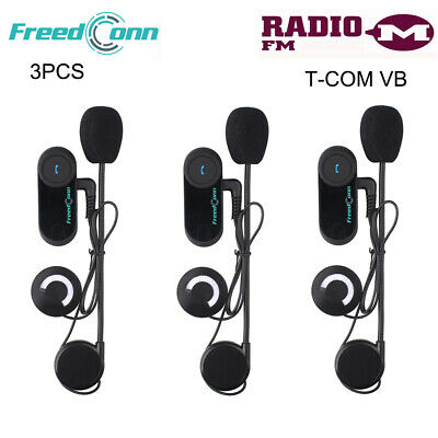 3X 800M Bluetooth Motorcycle Intercom Motorbike Helmet Headset Stereo Speaker FM • 112.99£