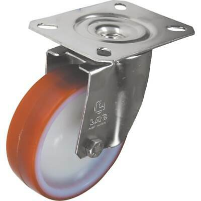 Atlas Workholders SS Swivel Plate 125MM Polyurethane Tyre • 13.59£