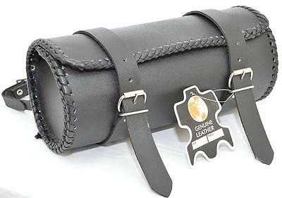 Motorcycle Motorbike Genuine Leather Tool Roll Saddle Bag Tr1 • 14.99£