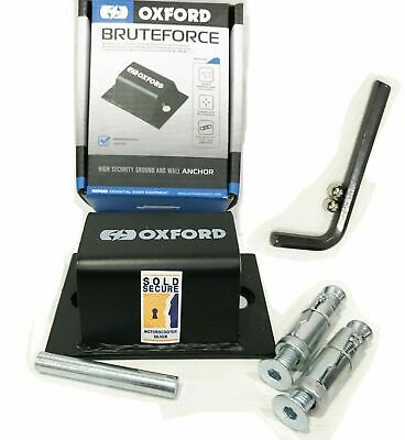 Oxford Brute Force Motorcycle Sold Secure Ground Wall Bolt Anchor Security • 20.76£