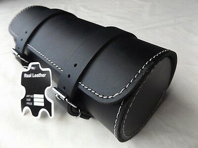 Guaranteed Highest Quality Motorcycle Motorbike Leather Tool Roll Saddle Bag T10 • 25.99£