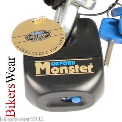 OXFORD Monster Padlock Only Ultra Strong Motorcycle Security Disc Lock  • 43.99£