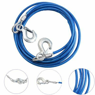 12 Foot Heavy Duty Steel Tow Rope (5 Tonne) With Hooks And Sleeve Premium 4M • 7.89£