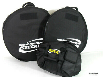 Set Bicycle Bags Front+Rear Motorcycle To 17 Inch And Helmet Bag • 153.51£