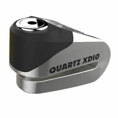 Oxford Quartz XD10 Motorcycle Security Disc Lock Brushed Stainless Effect  • 26.49£