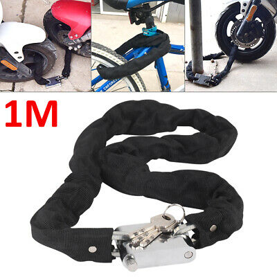 1M Heavy Duty Motorbike Motorcycle Bicycle Chain Lock Padlock Bike Cycle Moped • 6.99£