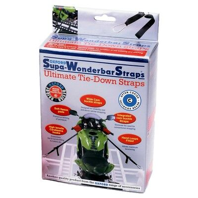 Oxford Super Wonderbar Straps Motorcycle / Motorbike Tie Down Straps - OF100 • 31£