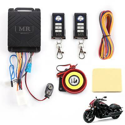 Motorcycle Motorbike Anti-theft Security Alarm Remote Control Sensor System • 11.49£