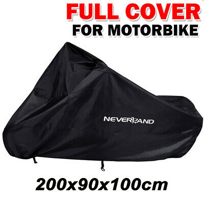 Large Waterproof Motorcycle Cover Dust UV Outdoor Protector Motorbike Scooter • 11.99£