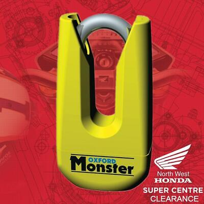 Oxford Monster Motorcycle Disc Lock - Heavy Duty & Thatcham Approved -Yellow • 41.99£