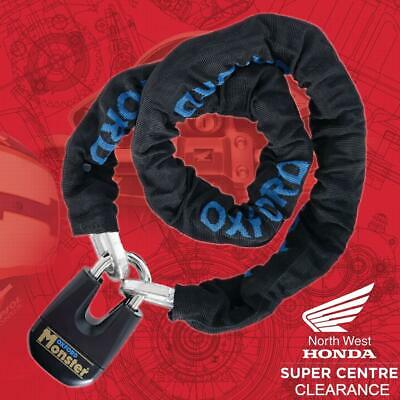 Oxford Monster Lock Motorcycle 1.5m Chain & Padlock LK802 Security • 54.99£