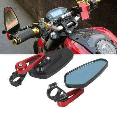 Pair Of 7/8  22mm Motorcycle Motorbike Alloy Bar End Side Rearview Mirrors • 8.99£