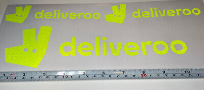 Deliveroo Vinyl Decals Delivery Driver Stickers Limelight Reflective • 7.95£