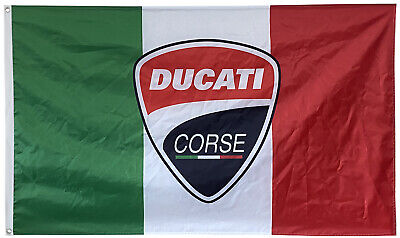 Italy Ducati Corse Flag Banner Racing Motorcycles MotoGP 3x5ft • 10.85£