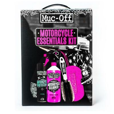 Muc-Off Motorcycle Essentials Kit Cleaning Motorbike 5 Piece Care Kit Gift New • 24.99£