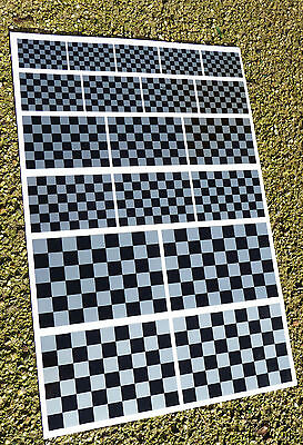 CAFE RACER HOT ROD SILVER Chequered Flag Stickers Declas Race Bike Superbike • 8.95£