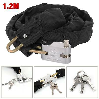1.2M Metal Motorbike Motorcycle Bicycle Heavy Duty Chain Lock Padlock Bike Cycle • 7.19£