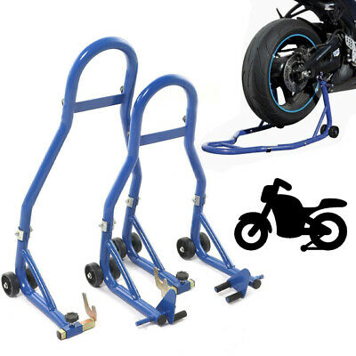 Warrior Front And Rear Motorcycle / Bike Paddock Stand / Stands Combo / Pair • 39.99£