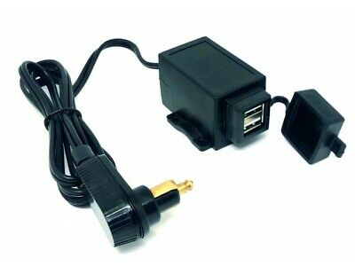 Motorcycle 12v Twin USB Charger Cable With Right Angle DIN Plug    • 28.50£