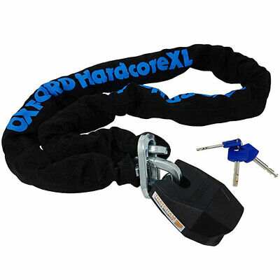 Oxford Hardcore XL 13 Motorcycle Motorbike Chain And Padlock  1.5m • 54.50£