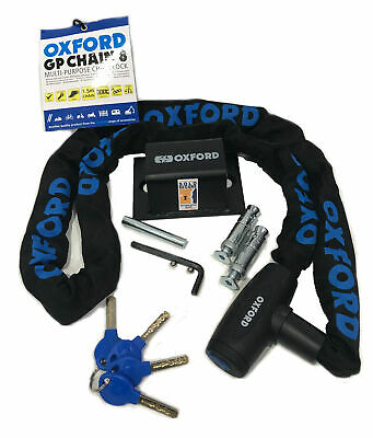 Motorcycle Oxford Sold Secure Ground Anchor + Oxford Gp 2.0m Chain Lock Bundle • 39.99£