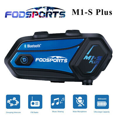 FODSPORTS M1-S Plus 2000M Bluetooth Intercom Motorcycle Helmet Headset 8 Riders • 65.99£