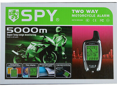 SPY 2 Way Motorcycle Alarm System With Remote Start And Microwave Sensor • 56.99£
