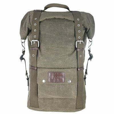 Oxford Heritage Waxed Cotton Motorcycle Motorbike Backpack 30 Litre Khaki • 63.99£
