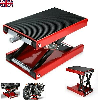 Perfect 500KG Motorcycle Table Bench Workshop Scissor Lift Jack Stand Paddock • 43.19£