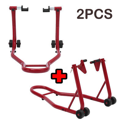 Front And Rear Motorcycle / Bike Paddock Stand / Stands Combo / Pair UK • 40.59£