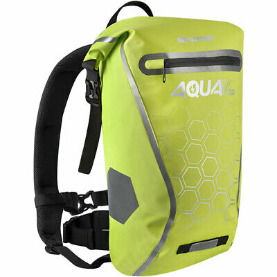 Oxford Aqua V20 Waterproof Motorcycle Motorbike 20 Litre Back Pack Fluo Yellow • 37.98£