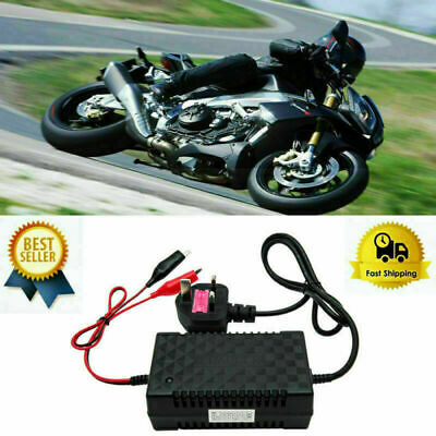 12V Intelligent Motorcycle Motorbike Battery Charger Automatic Smart Trickle UK • 12.18£