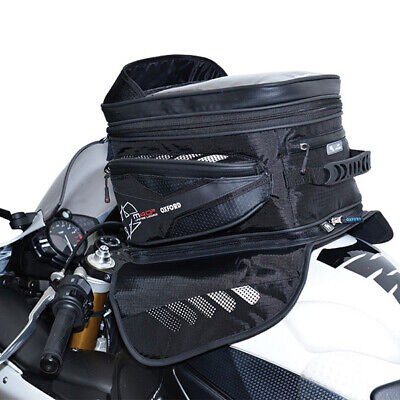 Oxford Luggage Magnetic M40R 40 Ltr Litre Motorcycle Motorbike Tank Bag Black • 91.99£