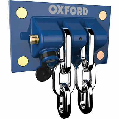 Oxford Docking Station Motorcycle Motorbike Ground Wall Chain Anchor • 69.99£