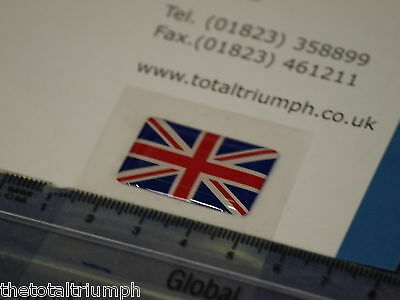 GENUINE Triumph Motorcycles Union Flag Jack Sticker Badge Decal NEW • 7.50£