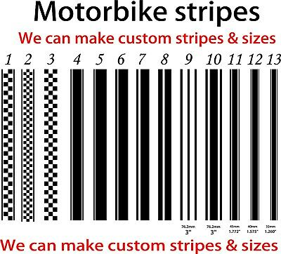 Tank Stripes - Tank - Motorcycle MotorBike - Stripes Custom Graphics • 6.99£