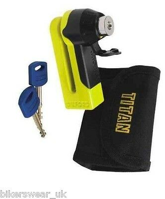 Oxford Motorcycle Motorbike Security Titan Disc Lock Yellow  • 15.93£