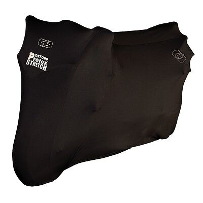 Oxford Protex Stretch Fit Indoor Motorcycle Motorbike Cover Black  Medium CV171 • 31£