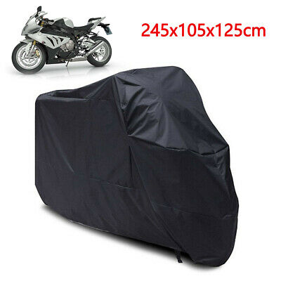 XL Motorcycle Waterproof Outdoor Motorbike Bike Rain Cover XL Black Storage UK • 8.69£