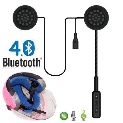 Bluetooth Motorcycle Helmet Headset Intercom Earphone Speaker Mic Handsfree Call • 11.29£