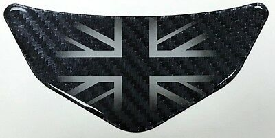 UK Carbon Fibre Effect Car - Motorcycle Chevron Sticker HIGH GLOSS DOMED GEL • 4.49£