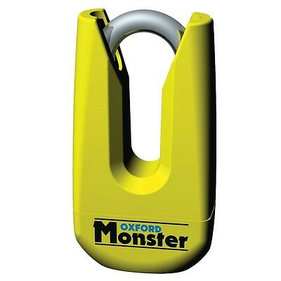 OXFORD Monster Yellow Disc Lock OF36M Ultra Strong Motorcycle Padlock  • 63.95£